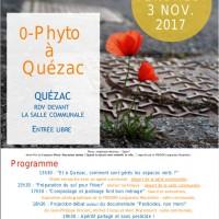 Animation Zéro-phyto sur Quézac – vendredi 3 novembre 2017